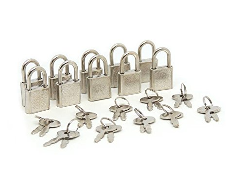SourceOne Mini Padlocks Luggage Locks, Pack of 10