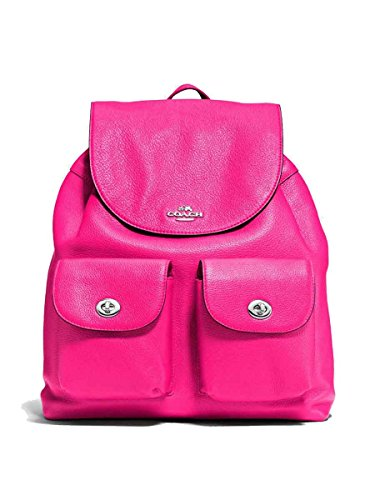 Coach 37410 BILLIE BACKPACK IN PEBBLE LEATHER FUCHSIA