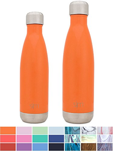 Simple Modern Stainless Steel Vacuum Insulated Double-Walled Wave Bottle, 25oz - Sunset Orange