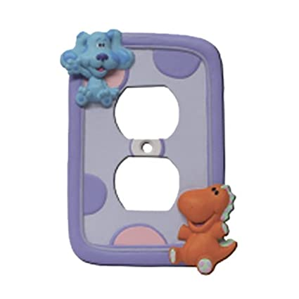 Blue S Clue Blues Clues Bedroom Playroom Play Bed Room Electrical Outlet Cover Home Decor Amazon In Home Kitchen