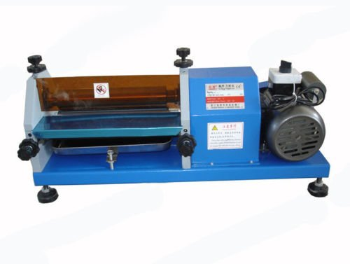 270mm(10.6 inch) Automatic Gluing Machine 27cm Glue Coating Machine for Paper, Leather 10m/min 220V or 110V by YUCHENG TECH