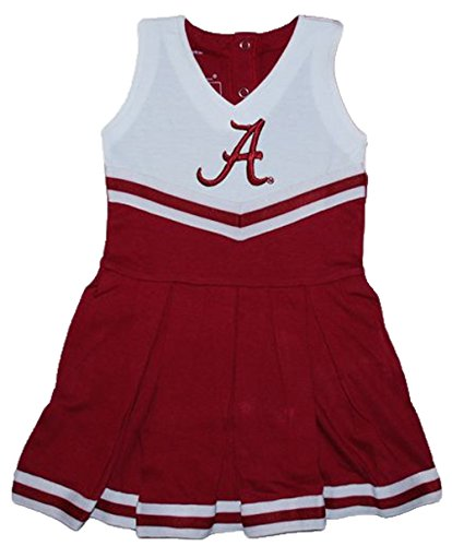 [Alabama Crimson Tide NCAA Newborn Baby Cheerleader Bodysuit Dress (0-3 Months)] (College Girl Halloween Costumes Creative)
