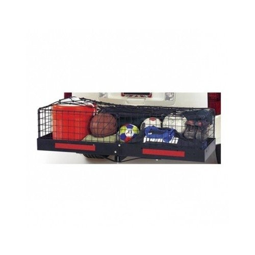 Hitch Mounted Cargo Carrier with Cage and Net