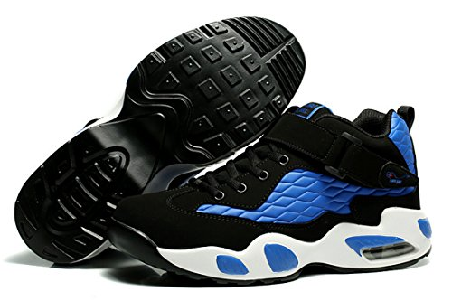 Jiye Performance Hommes Chaussures De Marche En Plein Air Mode Baskets De Basket-ball Noir Bleu