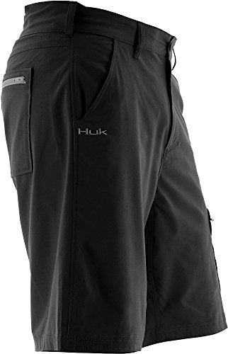 Marolina Outdoor H2000011BLKS Huk Next Level Shorts, Black, Small