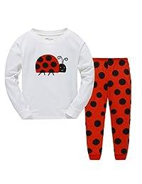 Babylike Pajamas Little Girls Sleepwears Set Pajamas 100% Cotton Clothes Toddler Kid