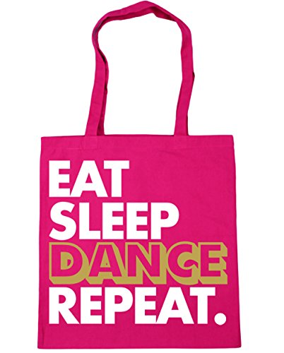Sleep Eat HippoWarehouse Beach Fuchsia Repeat litres 10 Dance Shopping Tote Gym x38cm Bag 42cm 54pdqgxpw