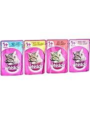 Whiskas Kattfoder – högkvalitativt våtfoder för katter – påse med 100 g, olika sorter