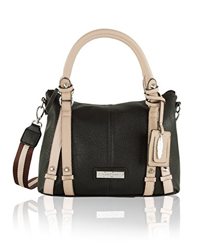 Jessica Simpson Women's Greer Small Crossbody Tote Black/Toasted Almond Handbag