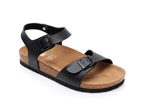 Women Leather Cork Sandals Arizona Slide Shoes (US 10, (Arizona Slides)