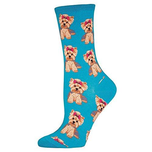 1 X Yorkie Blue Lagoon Socks by Socksmith Design