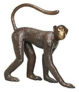 Bronze Walking Monkey Sculpture for the Home or Garden