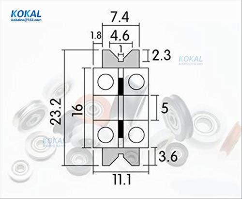 Ochoos [V0523-11] 10 rodillos tipo V para impresora 3D, guía de ...