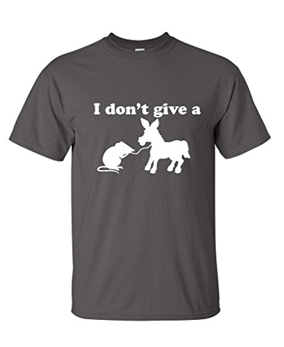 I Don't Give A Rats Ass Offensive Men's Sarcastic Funny T Shirt L Charcoal
