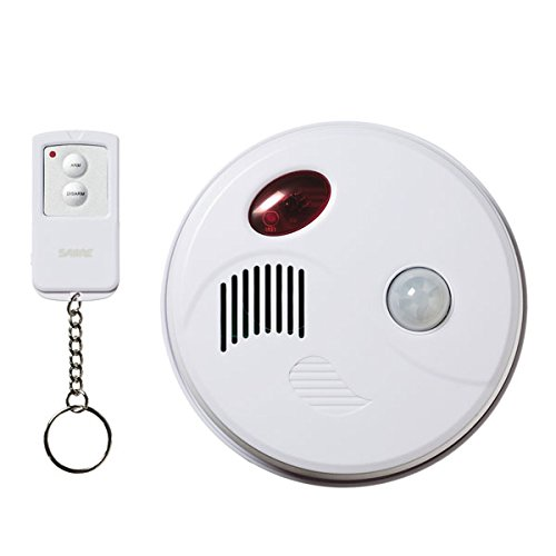 SABRE Wireless 360° Motion Detector 120 dB Alarm & Visitor Chime w/ - Sensing Motion Alarm