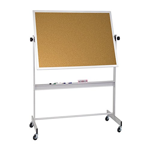 Balt Cork Deluxe Mobile Reversible Dry Erase Magnetic Marker Board 4' H x 5' W electronic consumers by Brandz