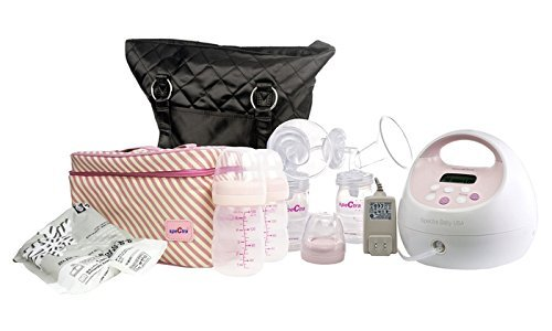 Spectra Baby USA - S2 Hospital Grade Double/Single Electric Breast Pump - With Black Tote and Pink Cooler