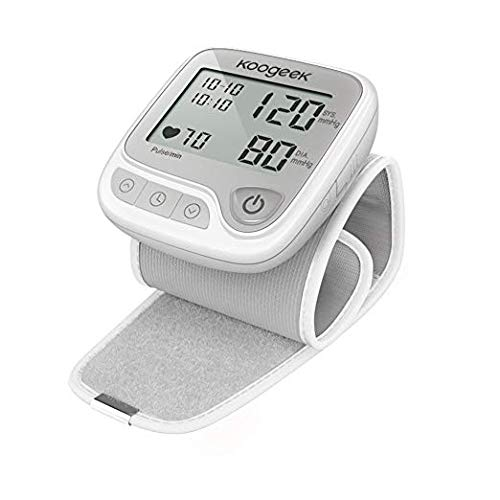 Koogeek Wrist Blood Pressure Monitor, Automatic Blood Pressure Cuff Wrist with Heart Rate for Home Use, Wireless Blood Pressure Machine with Memory Mode for iOS and Android Devices, Batteries Included