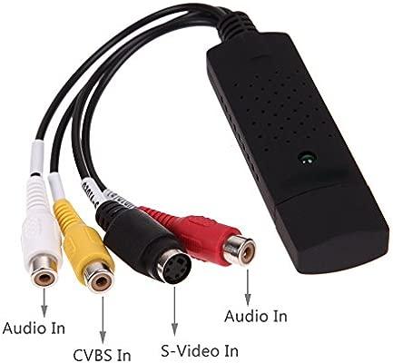 Capturadora de Video y Audio con Cable de Transferencia USB 2.0 YiYunTE - Compatible con Windows 10, 8, 7