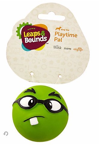 Leaps & Bounds Latex Emoticon Ball Dog Toy, 2