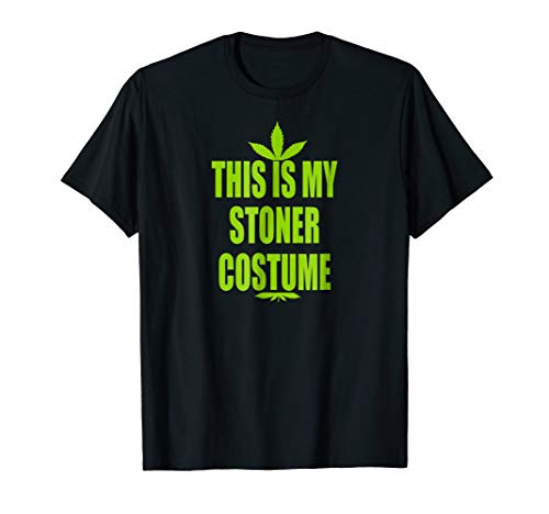 Funny Halloween Weed Leaf Shirt This Is My Stoner Costume ()