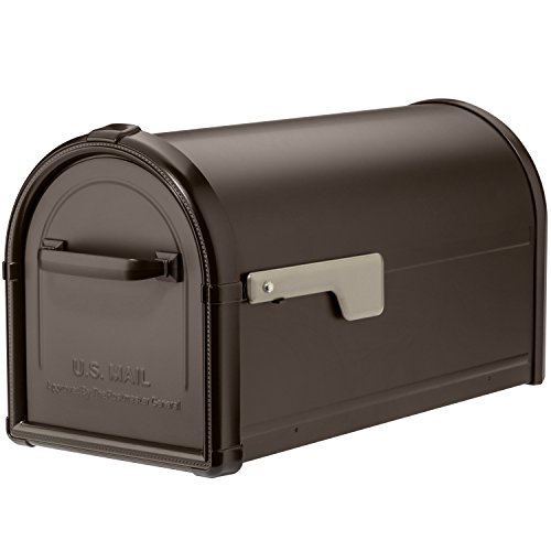 Architectural Mailboxes 5593RZ-CG Hillsborough Postmount Mailbox, Medium, Rubbed Bronze