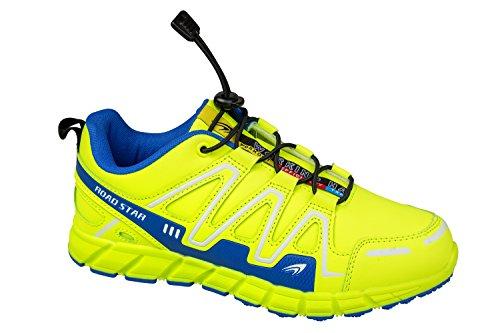 gibra - Zapatillas de running de Material Sintético para hombre neongelb/blau