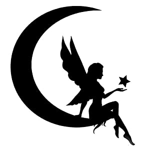 Amazon Com Fairy Sitting On Moon Stencil Made From 4 Ply
