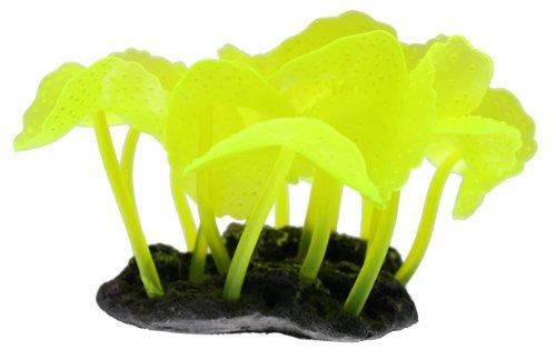 Vitality SH136 Faux Coral Aquarium Decorating Ornament, - Yellow Coral Mushroom