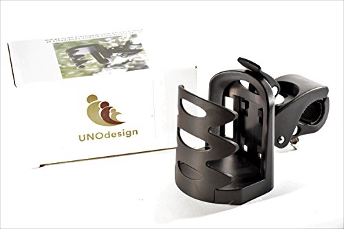 Universal Stroller Cup Holder | Fully Adjustable Attachable Drink Holder Fits All Strollers, Bike, Wheelchair, Pushchair | Sturdy Grip Adjustable Water Bottle Holder by NOUdesign by NOUdesign (Image #3)
