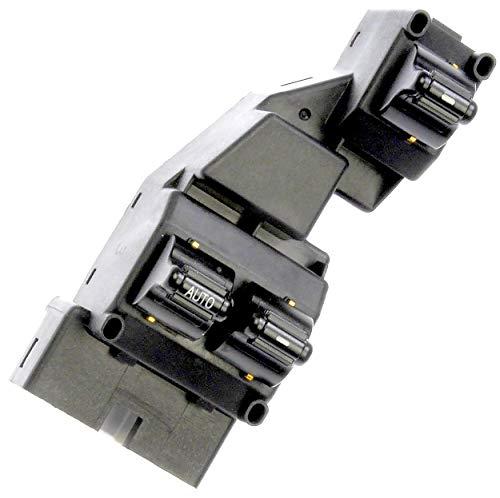 APDTY 012551 Master Power Window & Door Lock/Unlock Switch Front Left Driver-Side For 1999-2000 Dodge Dakota 2-Door / 1999-2002 Dodge Ram 1500 2500 3500 2-Door Pickup (Replaces Mopar 56021912AB)