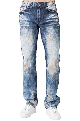 Bleached Straight Leg Jean (Level 7 Men's Slim Straight Leg Premium Denim Jeans Bleached Prism Wash Size 34)