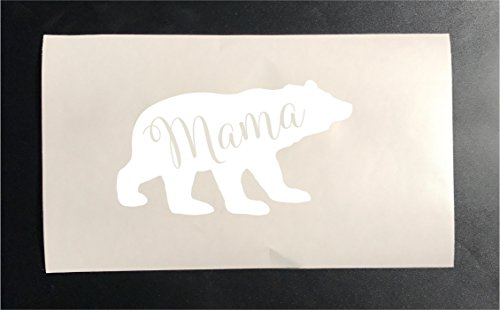 Mama bear iron on heat transfer stencils for shirts clothes (White)