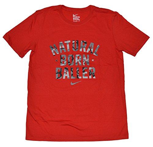 Nike Männer Nike läuft dieses Grafik T-Shirt Roter natürlicher geborener Baller