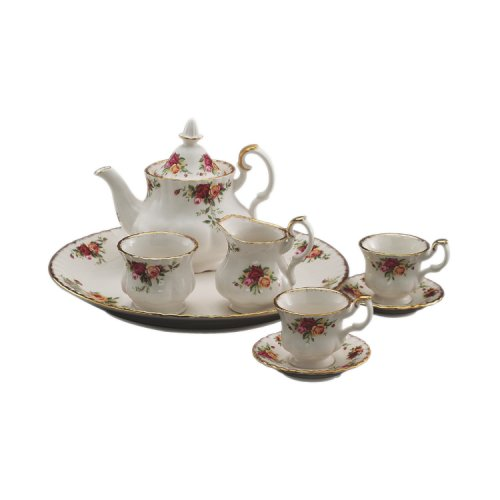 Royal Albert Serveware, Old Country Roses 9 Piece Mini Tea S