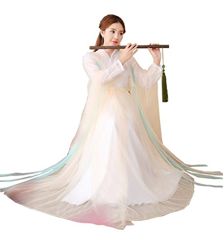 ZENGAI Stage Performance Peach Ancient Costume Cosplay Fairy Clothing Female (Color : Lotus root pink, Size : 160) ()