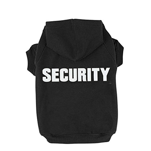 BINGPET Security Patterns Printed Puppy Pet Hoodie, Medium