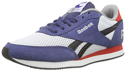 Reebok Royal Cl Jog 2rs, Zapatillas de Running Para Niños Azul / Blanco / Rojo (Midnight Blue/White/Black/Motor Red/Tin)