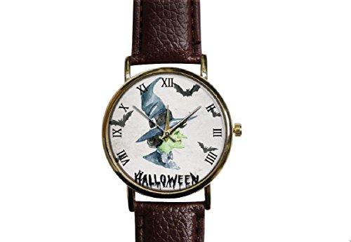 Halloween pumpkin witches. watch ,Custom watch,gift watch,decorative watch,Bridesmaid Watch,neutral watch,unique watch,Wedding -