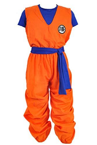 LoveCos Son Goku Costume Adult Dragon Ball Z Halloween Anime Cosplay Costumes for Men Orange
