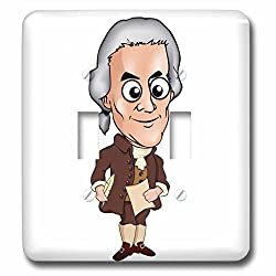 Scenes from the Past Fun with Historical Figures - American Founding Father Thomas Jefferson President - Light Switch Covers - double toggle switch (lsp_243734_2)