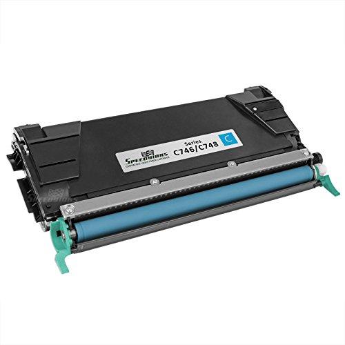 Lexmark Reman Toner (Speedy Inks - Remanufactured Lexmark C746H1CG Cyan Laser Toner Cartridge for use in C746DN, C746DTN, C746N, C748DE, C748DTE, & C748E)