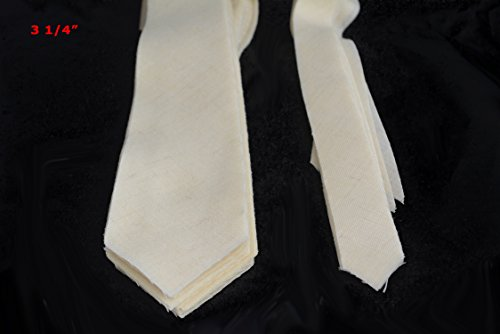 "10 PACK of PRE-CUT 100% wool medium weight necktie interfacing / interlining W14/13-33TH AC Ter Kuile, finest available, made in Netherlands (5 SIZES AVAILABLE) (3 1/4"")"