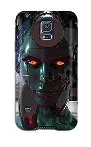 Galaxy S5 Cyborg Print High Quality Tpu Gel Frame Case Cover
