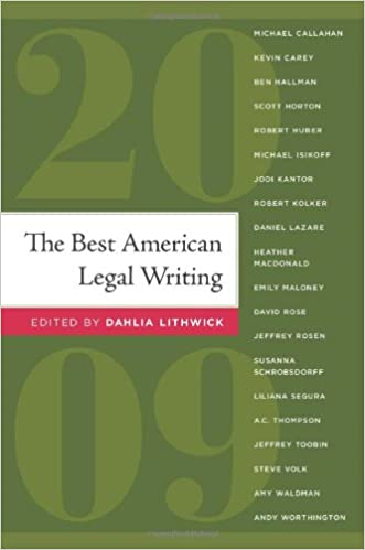 The Best American Legal Writing 2009: Dahlia Lithwick: 9781607144663
