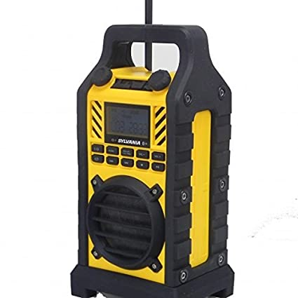 Amazon com: Sylvania SP303-YELLOW Heavy Duty Bluetooth