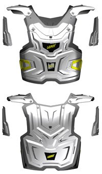 Leatt Adventure Chest Protector (White, Adult)
