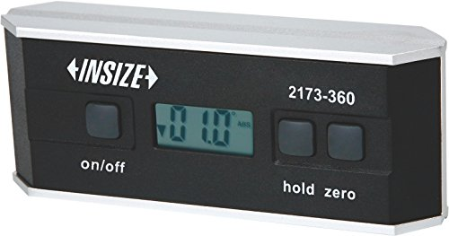 INSIZE 2173-360 Electronic Level and Protractor, IP54, 0 Degree - 360 Degree by INSIZE