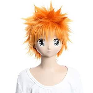 Azrael Kurosaki Ichigo Short Orange Wigs Explosion Cosplay Wigs Party Wigs Costume Wigs