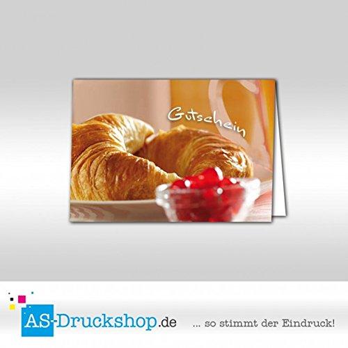 Gutschein Bäckerei Hörnchen   100 Stück   DIN A6 B079Q1KD7T | Verschiedene Arten und Stile